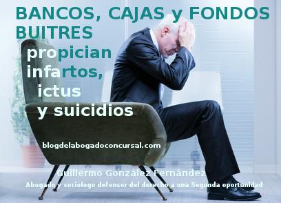 Infartos, ictus y suicidios por deudas